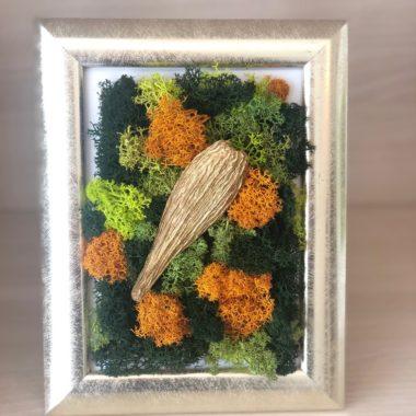 tablou auriu cu licheni