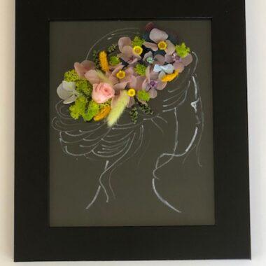 tablou cu hortensie -negru