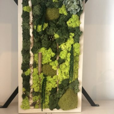 Kalia Flowers TABLOU DECOR DIN LICHENI ȘI ELEMENTE NATURALE
