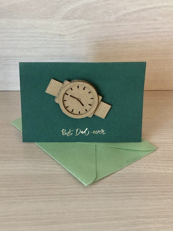 felicitare craft ceas
