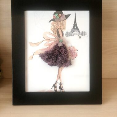 tablou'Domnisoara la Paris'