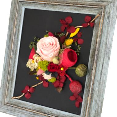 tablou flori stabilizate(2) -kalia flowers